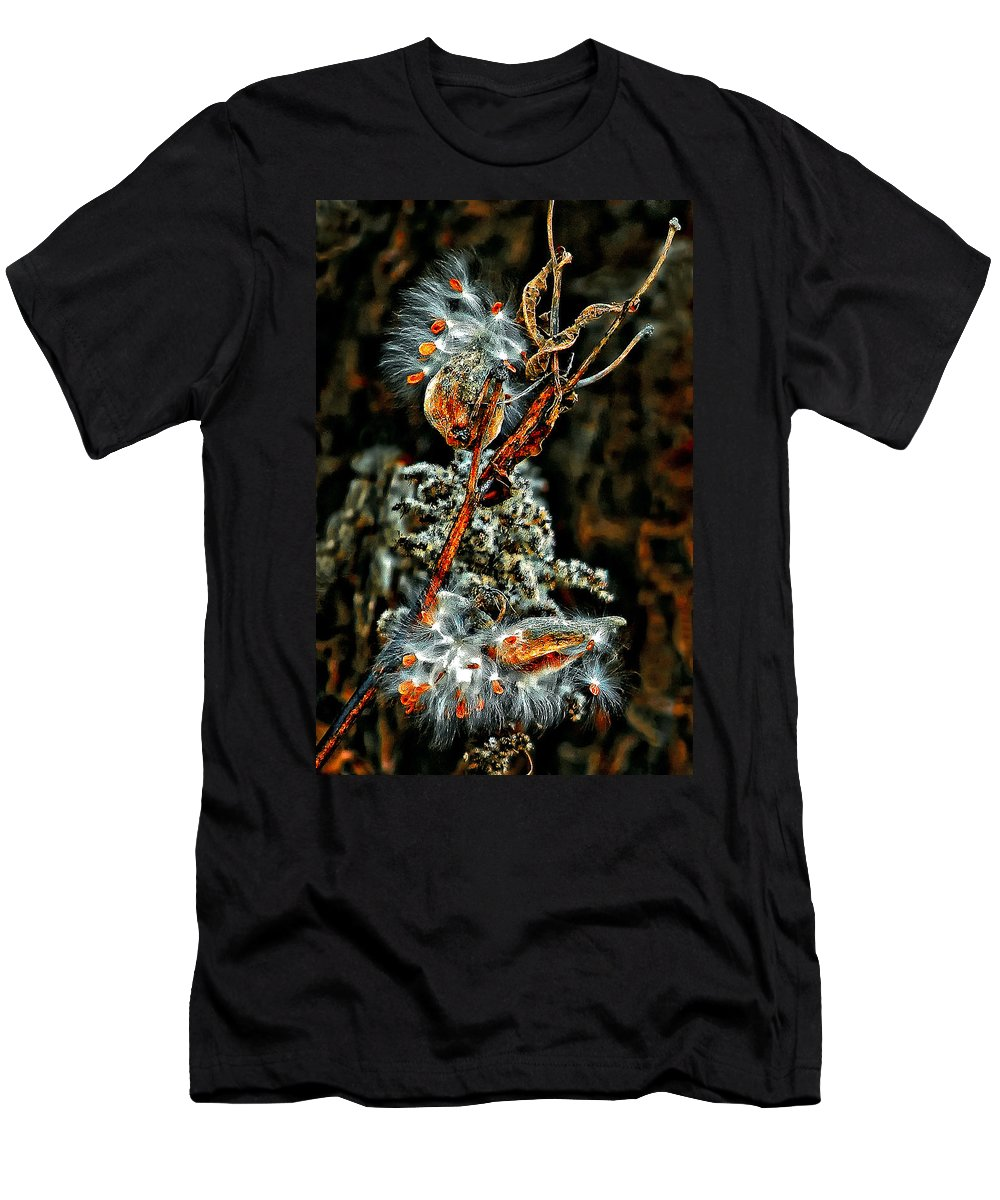 Milkweed Men's T-Shirt (Athletic Fit) featuring the photograph Lady Of The Dance by Steve Harrington