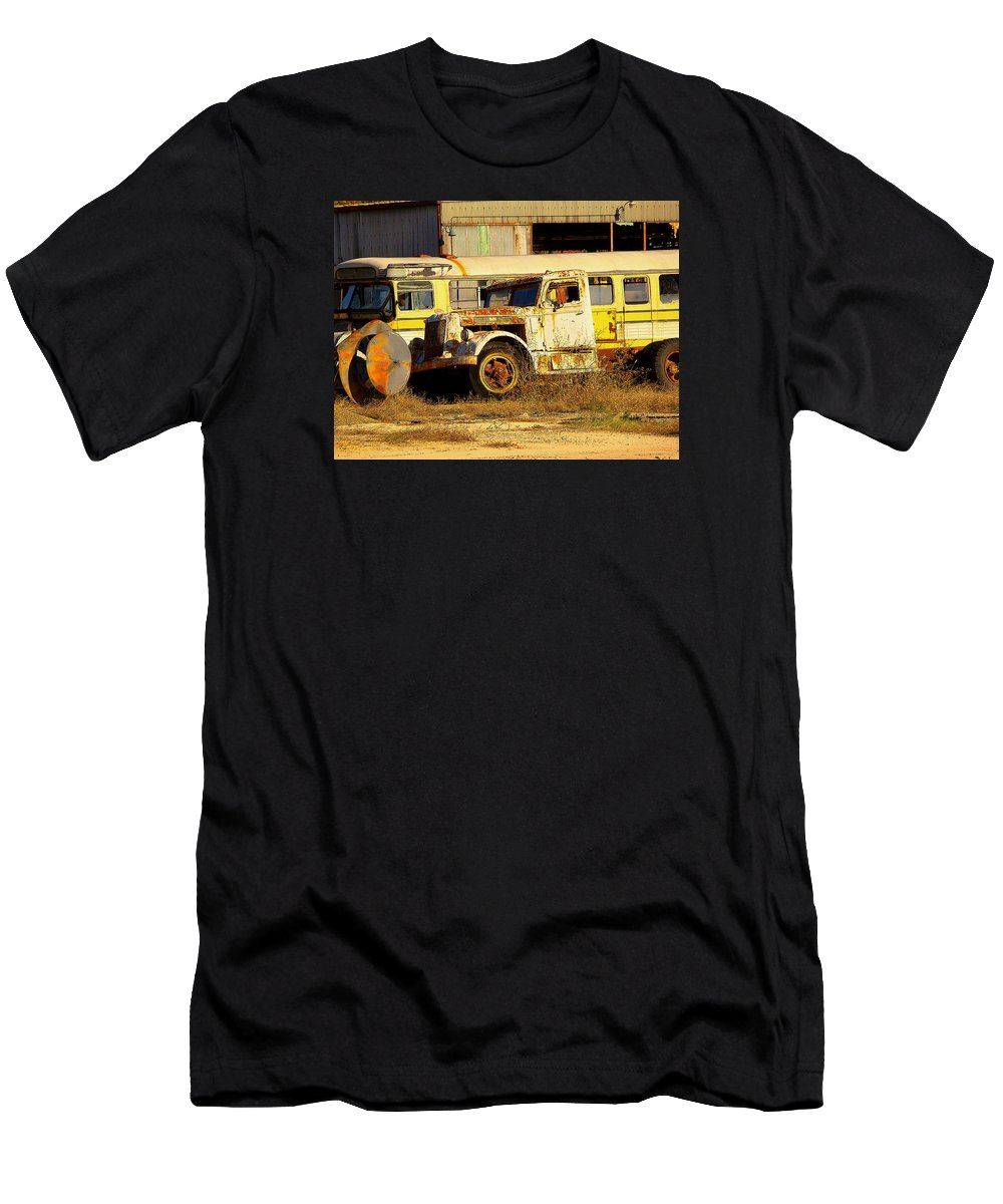 Fine Art Men's T-Shirt (Athletic Fit) featuring the photograph Laid To Rest by Rodney Lee Williams