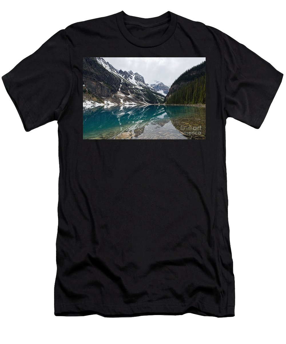 Lake Louise Men's T-Shirt (Athletic Fit) featuring the photograph Lake Louise by David Arment