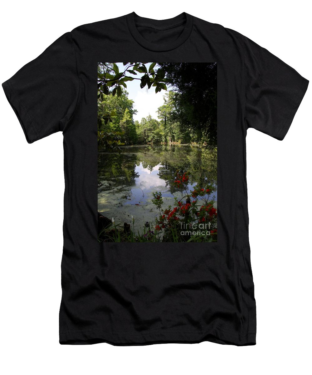 Ake Men's T-Shirt (Athletic Fit) featuring the photograph Lake On The Plantation by Christiane Schulze Art And Photography