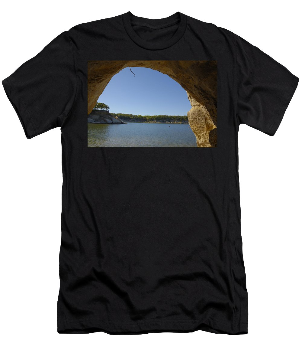 Lake Men's T-Shirt (Athletic Fit) featuring the photograph Lake Texoma Eisenhower State Park Texas by Charles Beeler