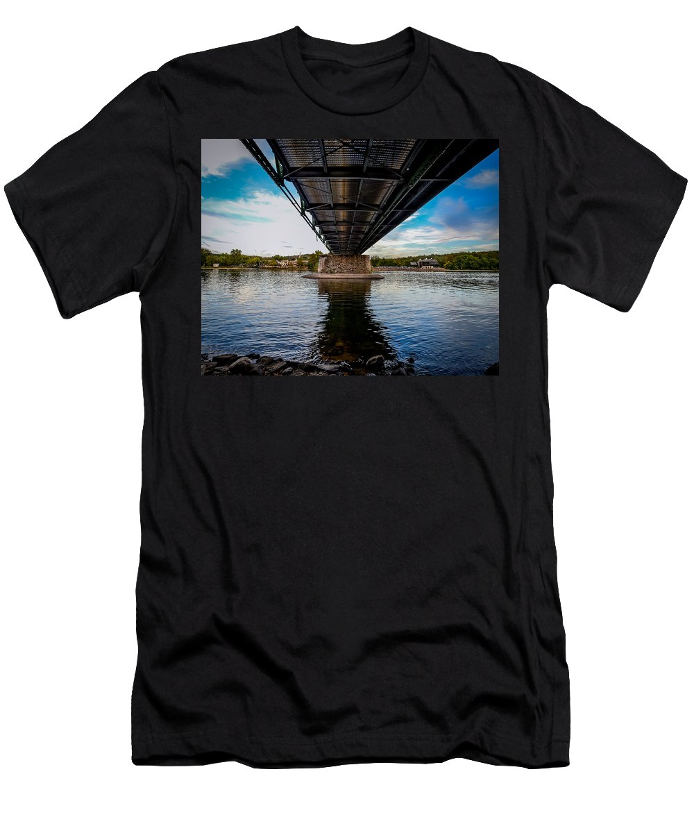 Lambertville From The Shores Of New Hope Men's T-Shirt (Athletic Fit) featuring the photograph Lambertville From The Shores Of New Hope by Michael Brooks