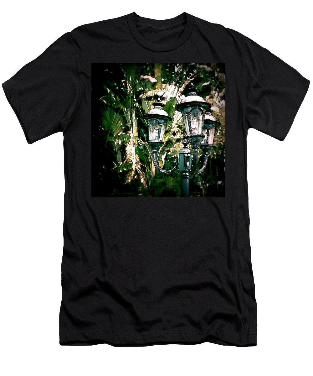 Las Olas Men's T-Shirt (Athletic Fit) featuring the photograph Lamp Post by Bill Howard