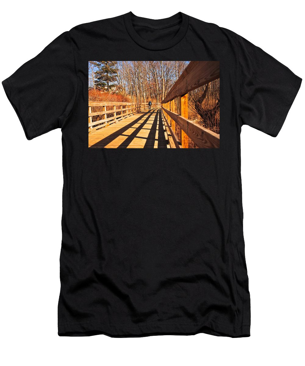Boardwalk Men's T-Shirt (Athletic Fit) featuring the photograph Lance Rides On by Frozen in Time Fine Art Photography