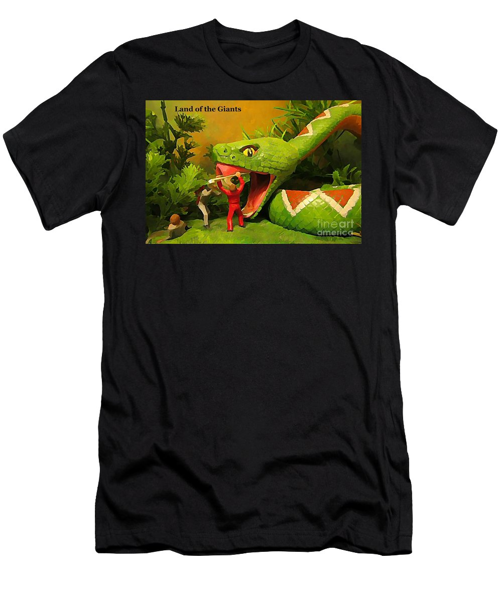 Land Of The Giants Men's T-Shirt (Athletic Fit) featuring the photograph Land Of The Giants by John Malone