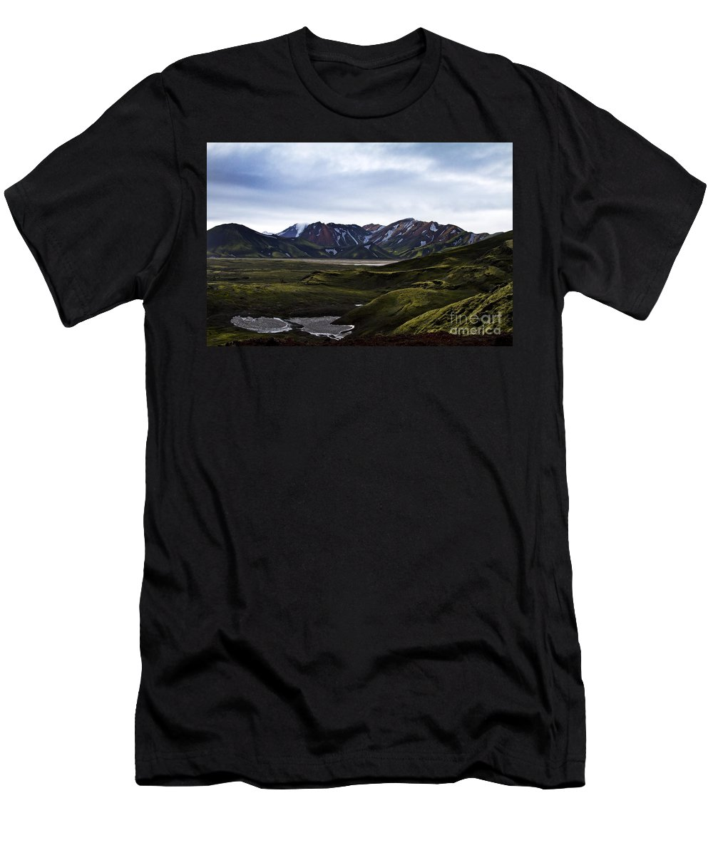 Summer Men's T-Shirt (Athletic Fit) featuring the photograph Landmannalaugar Iceland by Gunnar Orn Arnason