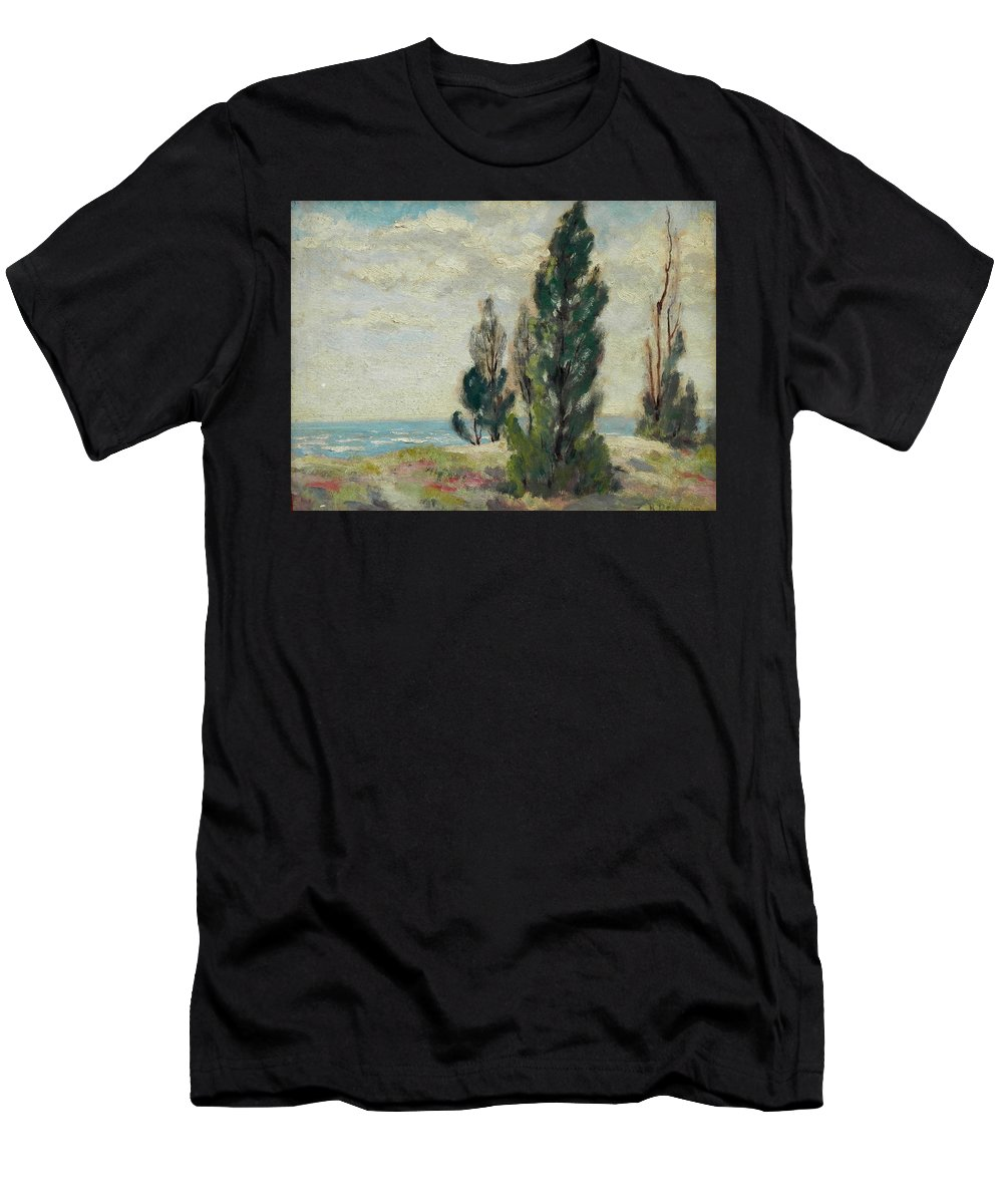 Mathias Alten Men's T-Shirt (Athletic Fit) featuring the painting Landscape by Ralph Demmon