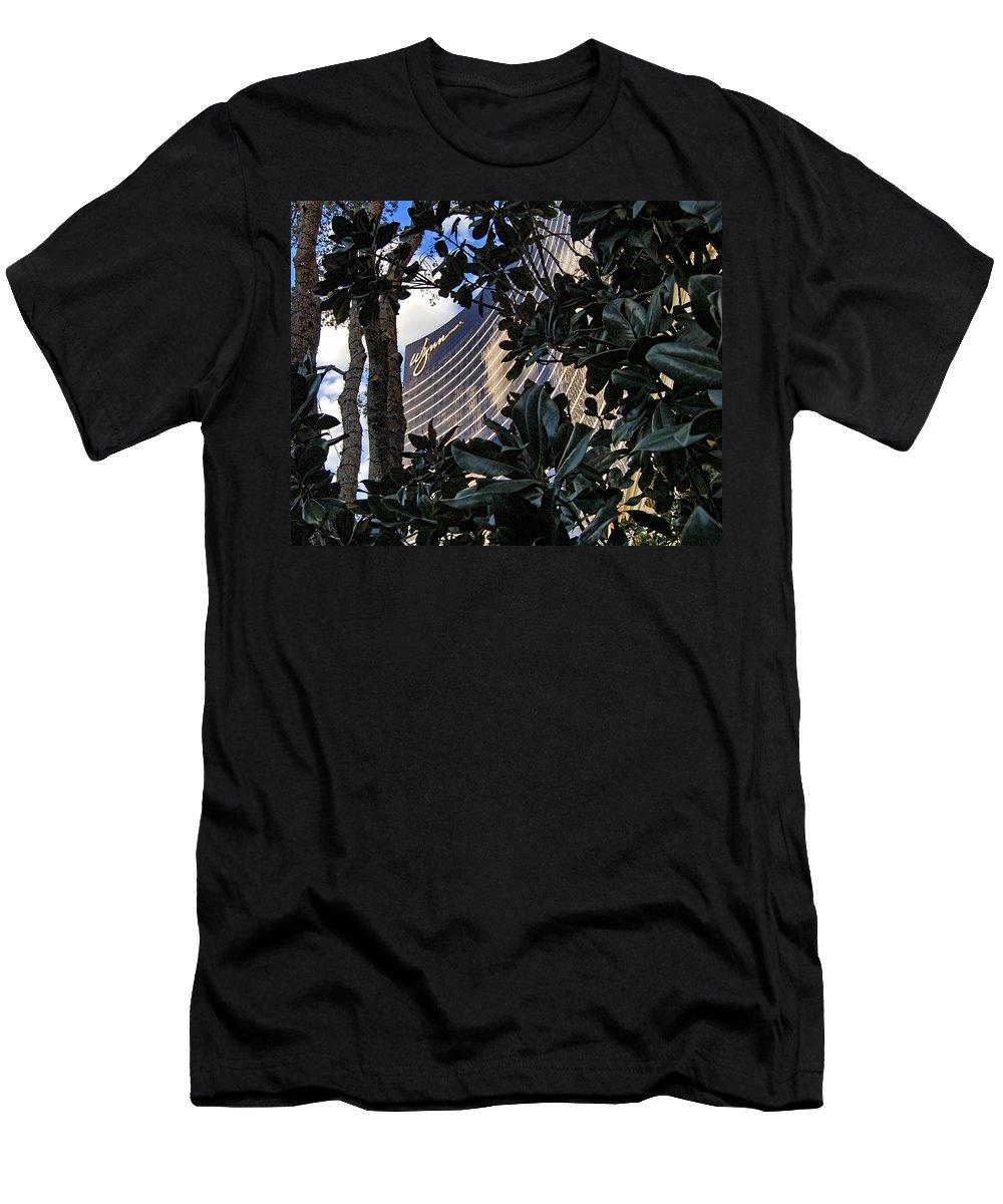 Las Vegas Men's T-Shirt (Athletic Fit) featuring the photograph Las Vegas - Wynn Hotel by Jon Berghoff