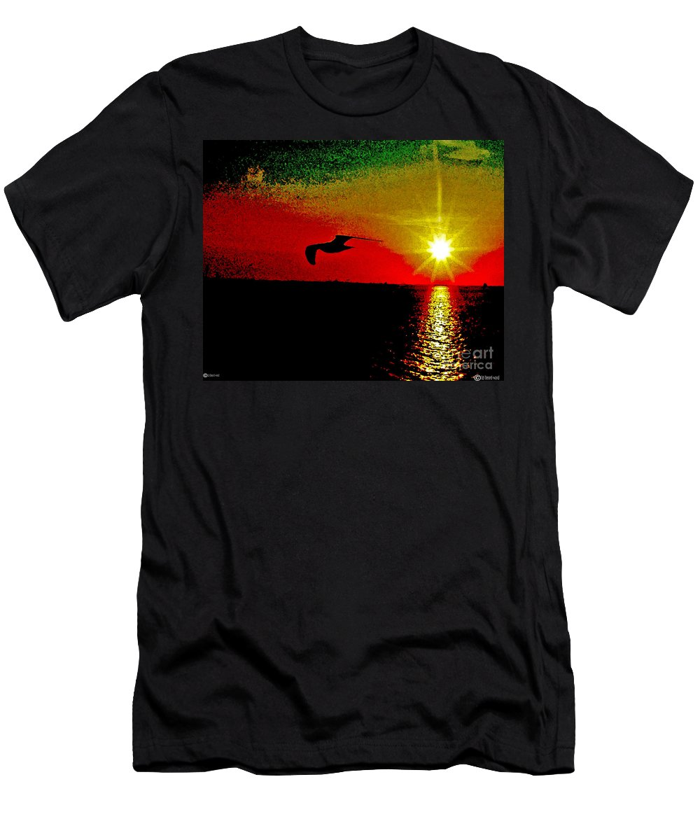 Digital Art Men's T-Shirt (Athletic Fit) featuring the digital art Last Breath by Lizi Beard-Ward