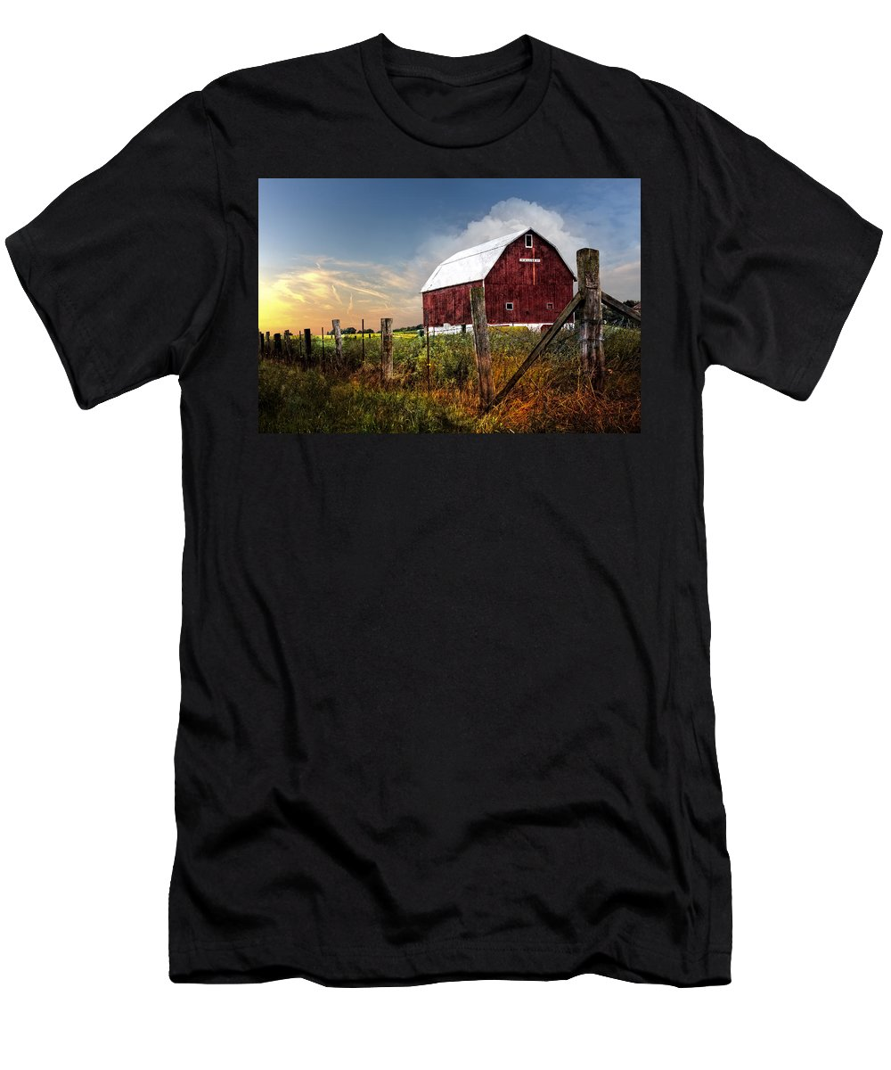 Appalachia Men's T-Shirt (Athletic Fit) featuring the photograph Late Summer by Debra and Dave Vanderlaan
