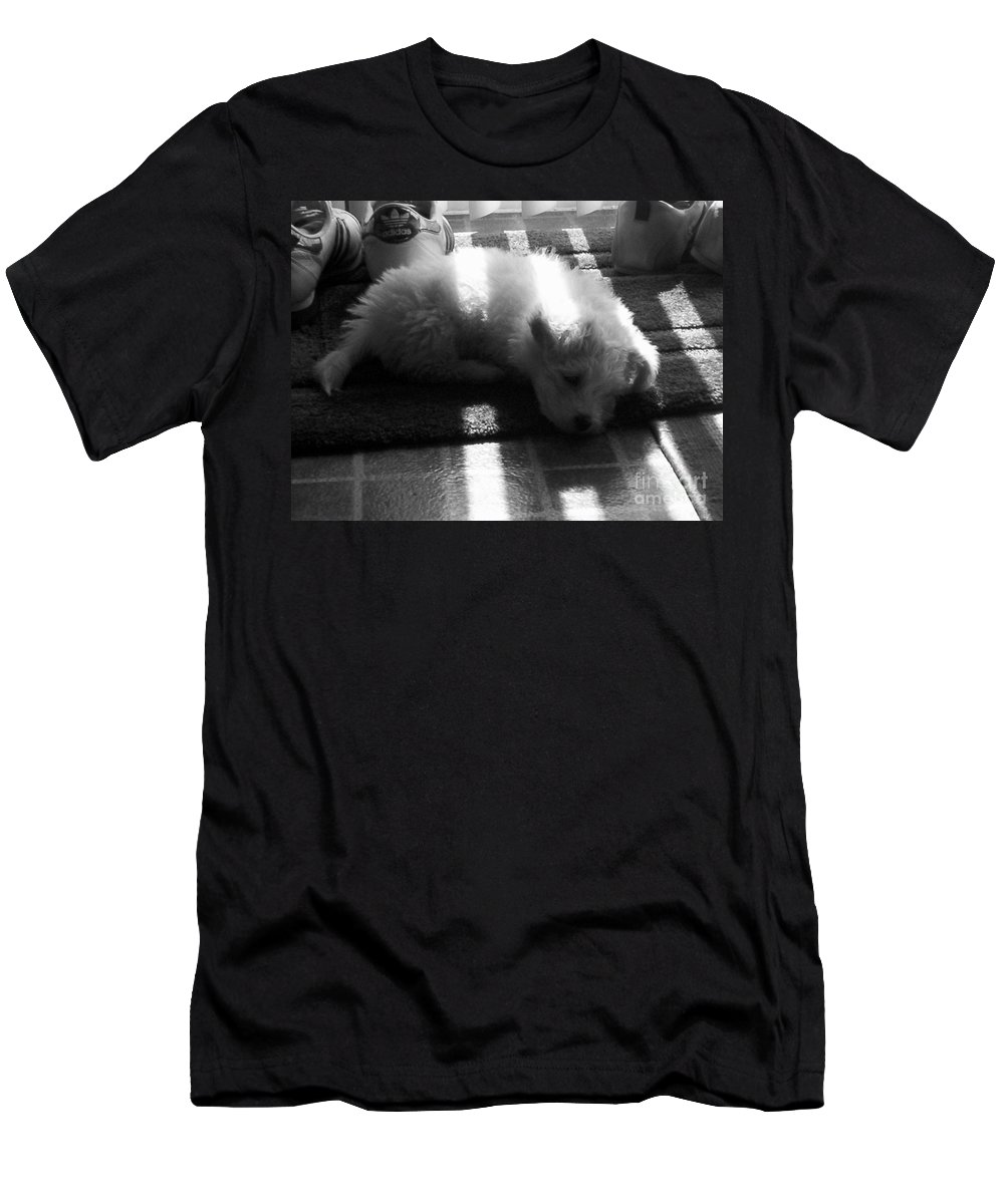 Puppy Men's T-Shirt (Athletic Fit) featuring the photograph Lazy Days by Michael Krek