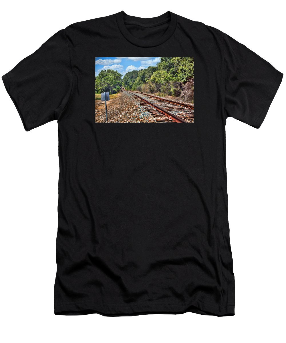 Nature Men's T-Shirt (Athletic Fit) featuring the photograph Leading To The Future by Linda Phelps