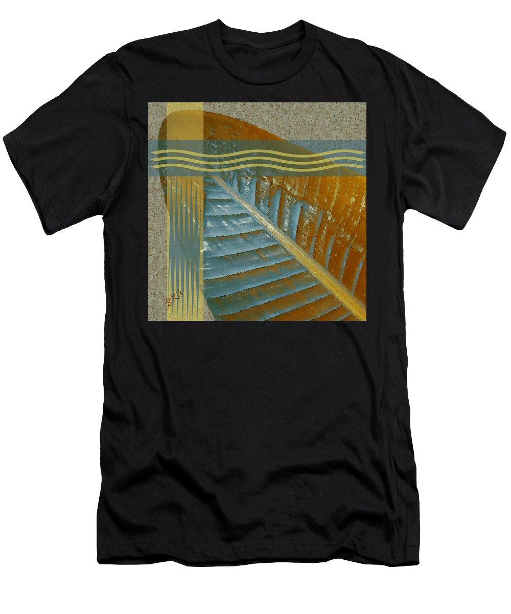 Geometric Men's T-Shirt (Athletic Fit) featuring the digital art Leaf Study II by Ben and Raisa Gertsberg