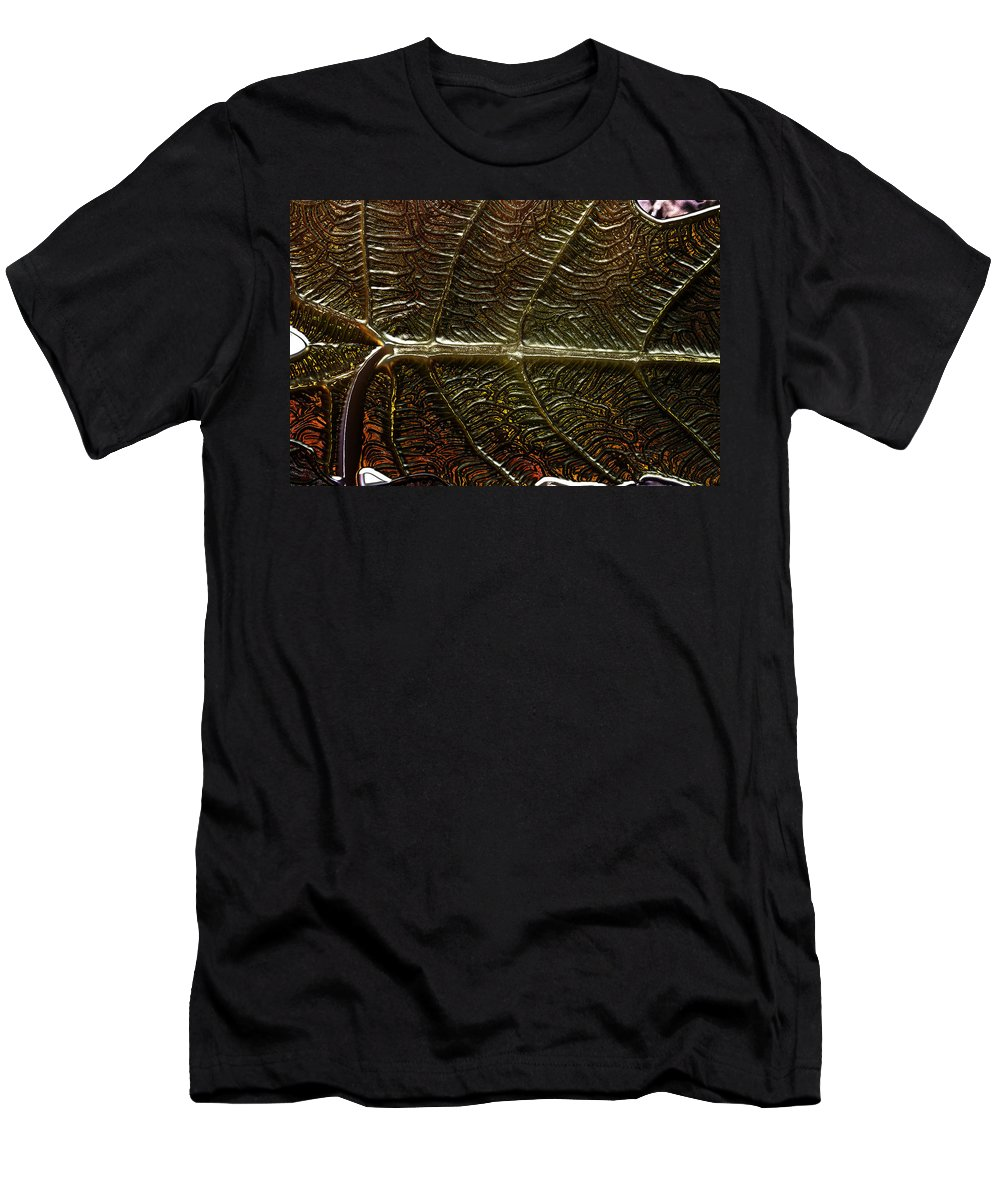 Leaf Men's T-Shirt (Athletic Fit) featuring the photograph Leafage by Richard Thomas