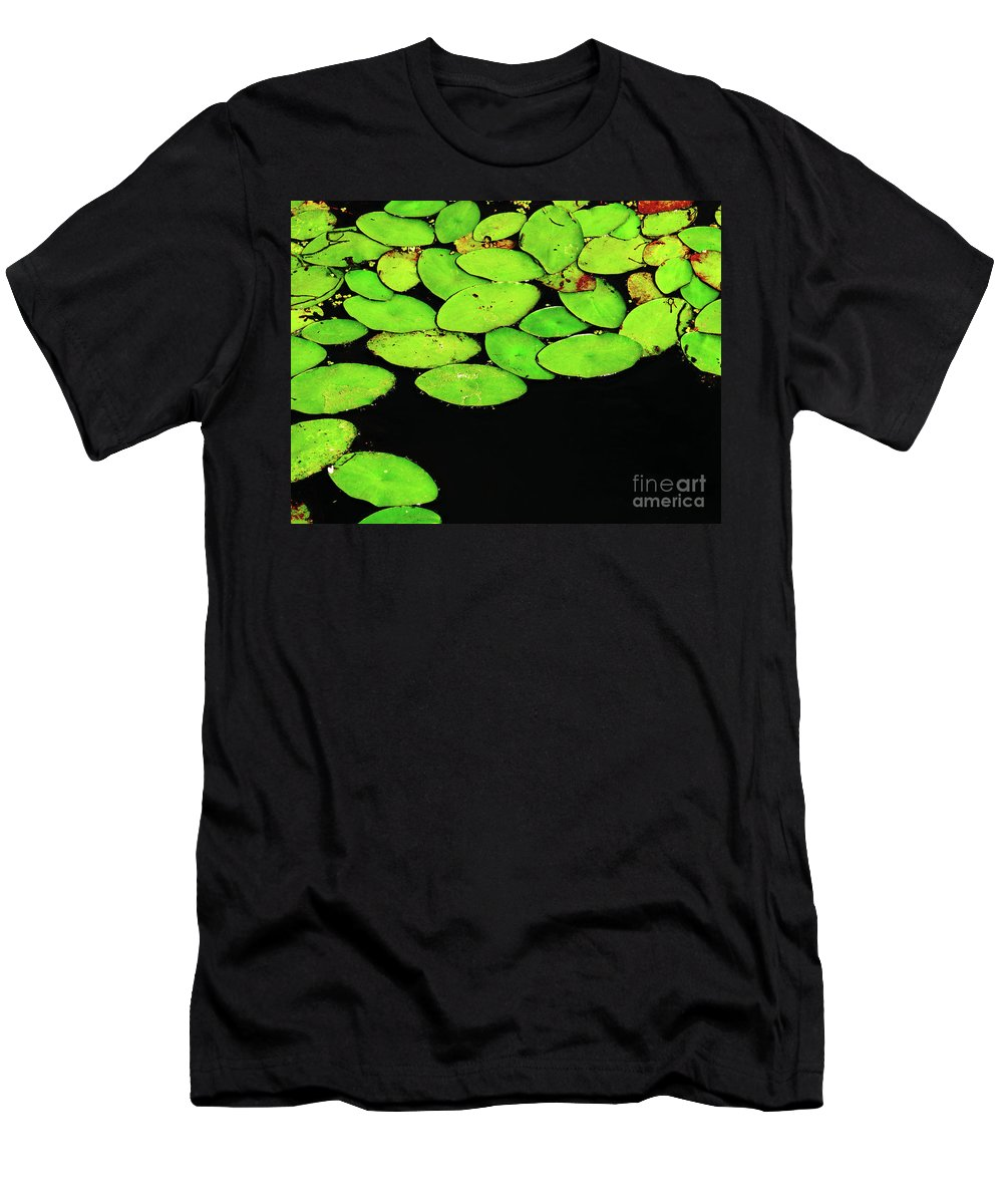 Swamp Men's T-Shirt (Athletic Fit) featuring the photograph Leafy Swamp by Ann Horn