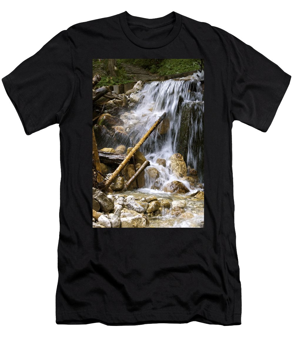 Neuschwanstein Castle Men's T-Shirt (Athletic Fit) featuring the photograph Lean by Tara Fisher