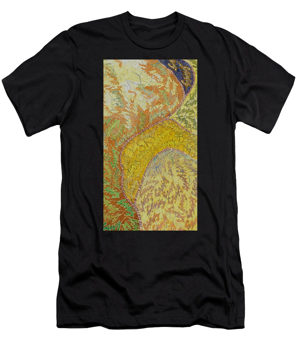 Lettering Art Men's T-Shirt (Athletic Fit) featuring the painting Leaves Leave by Sid Freeman