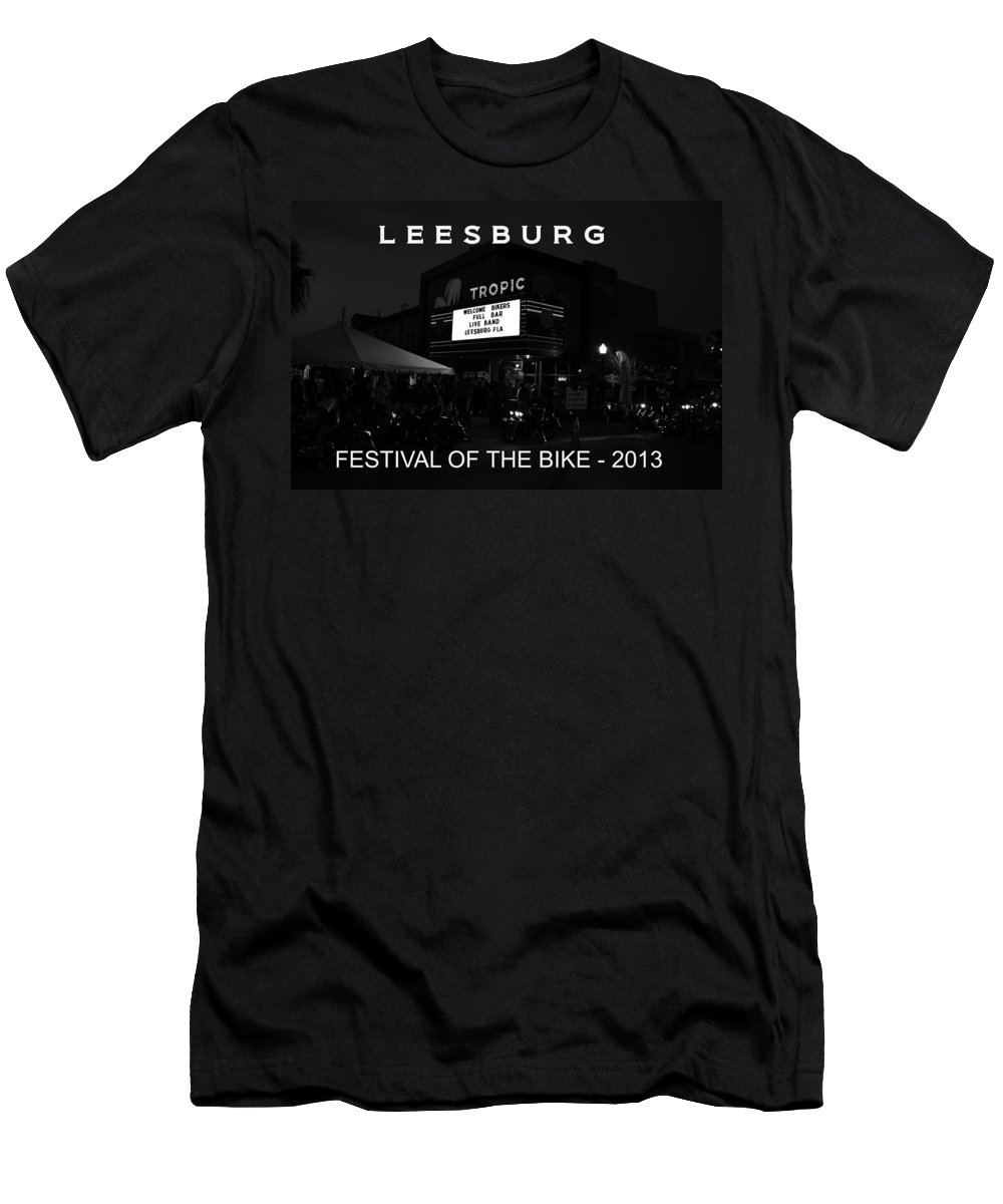 Leesburg Florida Men's T-Shirt (Athletic Fit) featuring the photograph Leesburg Bikefest 2013 Poster Work One by David Lee Thompson