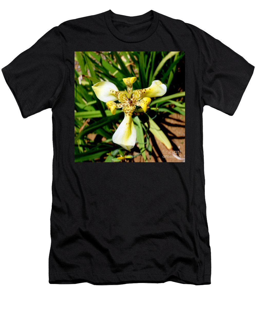 Orchid Men's T-Shirt (Athletic Fit) featuring the photograph Leopard Orchid by Mary Deal