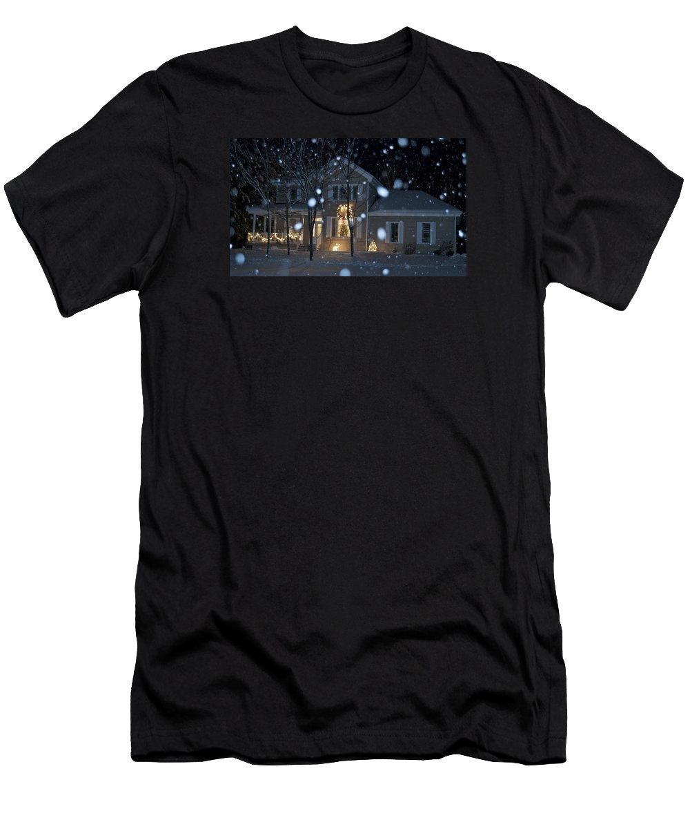 House Men's T-Shirt (Athletic Fit) featuring the photograph Let It Snow by Rawimage Photography