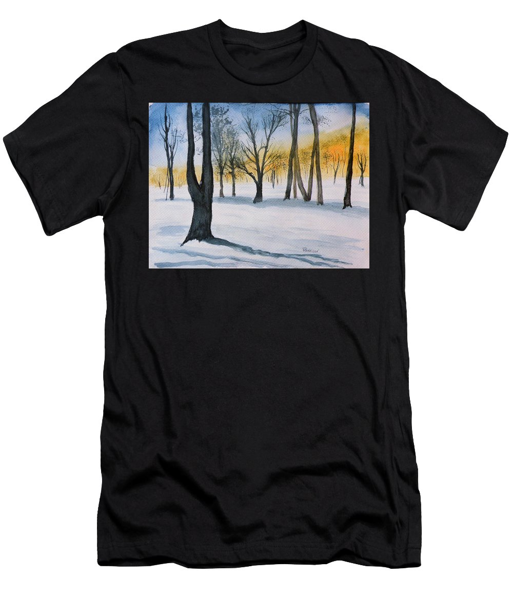 Painting Men's T-Shirt (Athletic Fit) featuring the painting Letchworth State Park Ny by Gilbert Pennison
