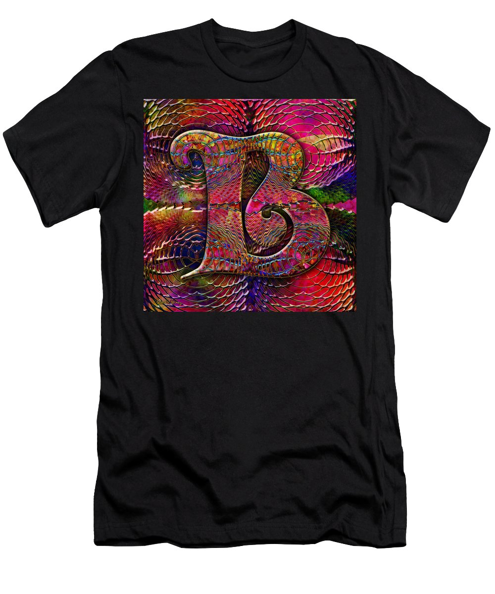 Alphabet Men's T-Shirt (Athletic Fit) featuring the digital art Letter B by Barbara Berney