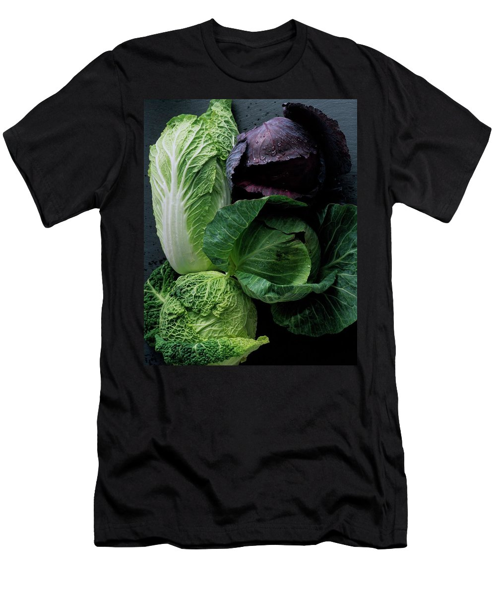 Fruits Men's T-Shirt (Athletic Fit) featuring the photograph Lettuce by Romulo Yanes