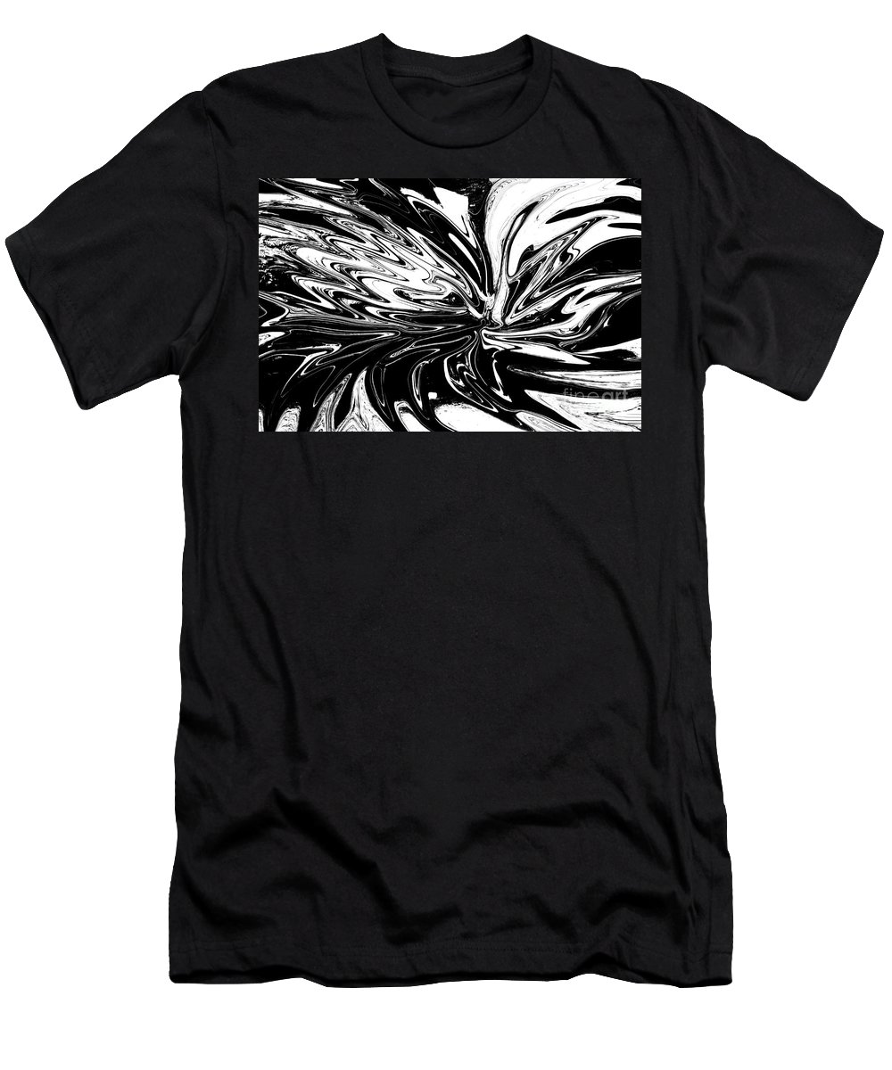 Licorice Men's T-Shirt (Athletic Fit) featuring the digital art Licorice In Abstract by Christopher Shellhammer