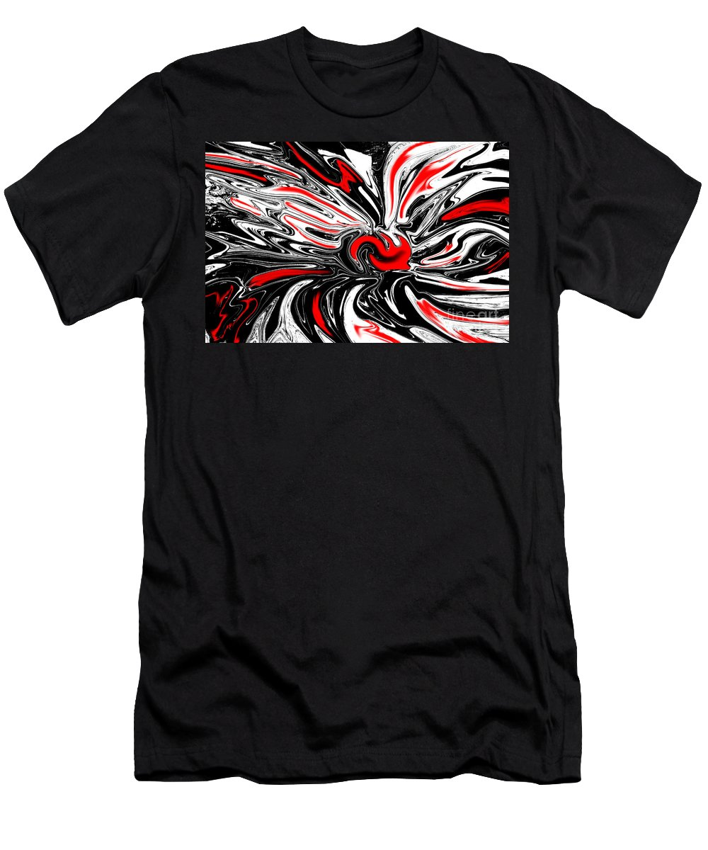 Licorice Men's T-Shirt (Athletic Fit) featuring the digital art Licorice With Red Cherry by Christopher Shellhammer