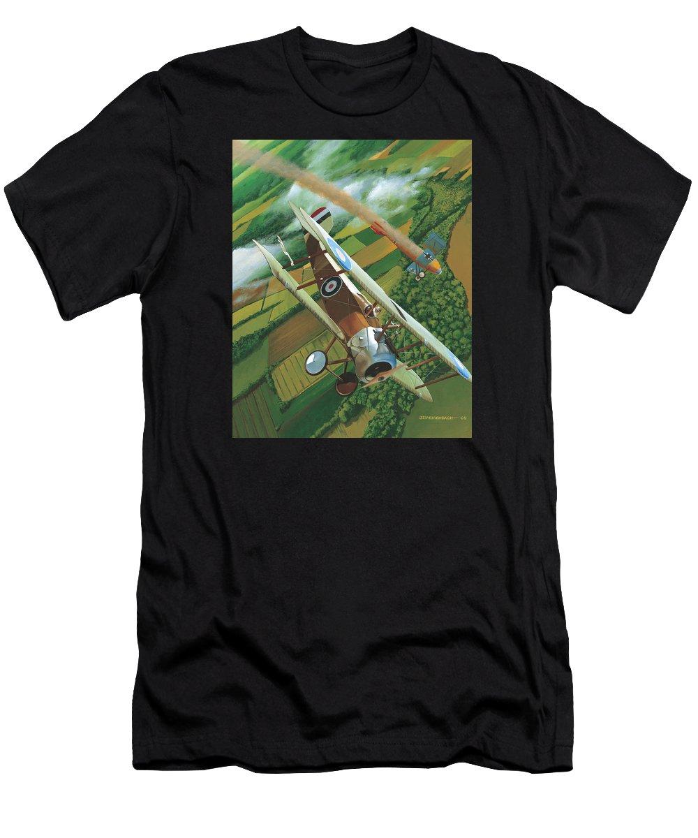 Sopwith Camel T-Shirt featuring the painting Lieutenant Chamberlain Takes Five by Jason Breidenbach