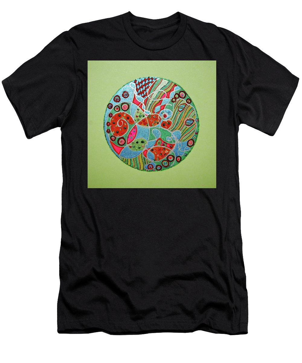 Life Men's T-Shirt (Athletic Fit) featuring the mixed media Life Essence by Sheree Kennedy