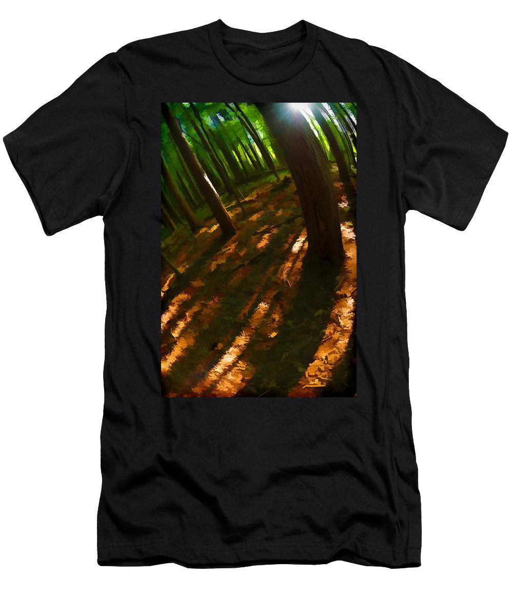 Nature Men's T-Shirt (Athletic Fit) featuring the photograph Light And Dark by Tina Baxter