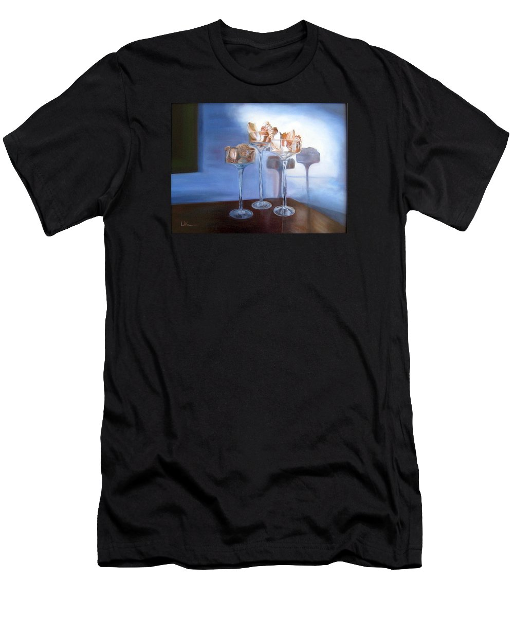 Light Men's T-Shirt (Athletic Fit) featuring the painting Light Glass And Shells by LaVonne Hand