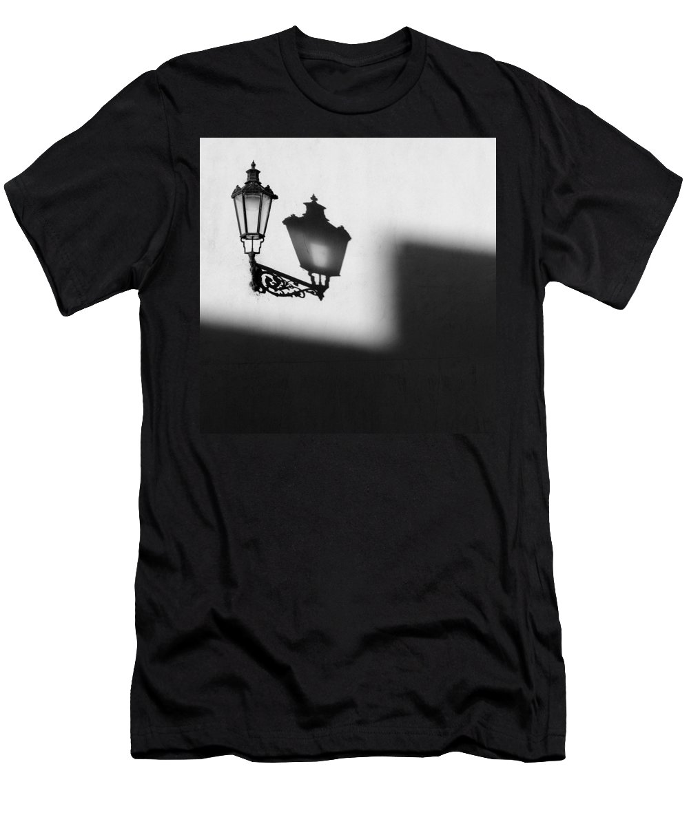 Lamp Men's T-Shirt (Athletic Fit) featuring the photograph Light Shadow by Dave Bowman