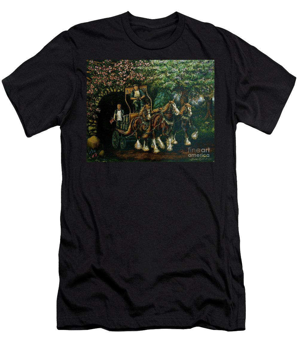 Men's T-Shirt (Athletic Fit) featuring the painting Light Touch by Linda Simon