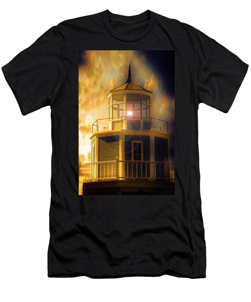 Lighthouse Men's T-Shirt (Athletic Fit) featuring the photograph Lighthouse by Aaron Berg