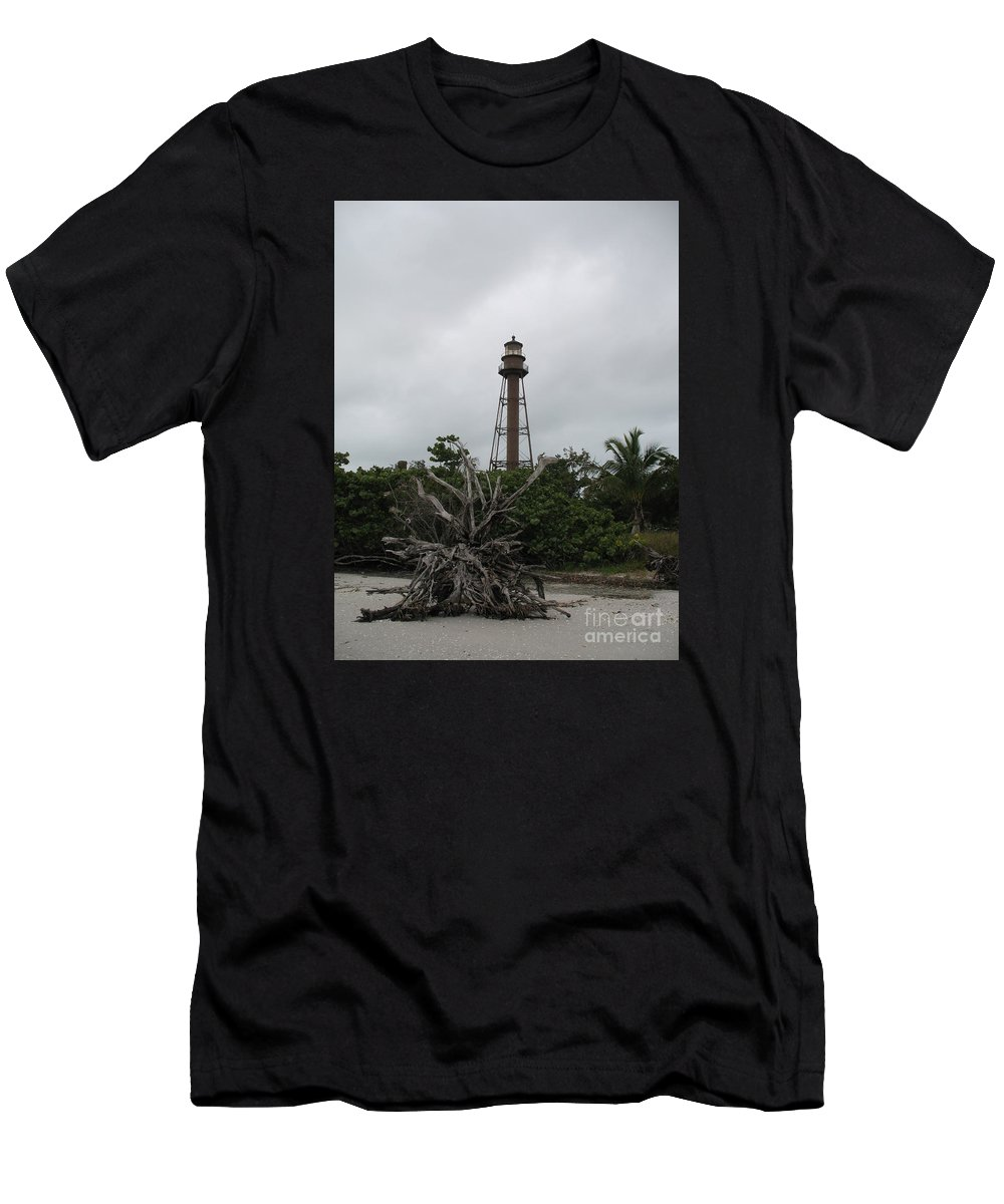 Ligthouse Men's T-Shirt (Athletic Fit) featuring the photograph Lighthouse On Sanibel Island by Christiane Schulze Art And Photography