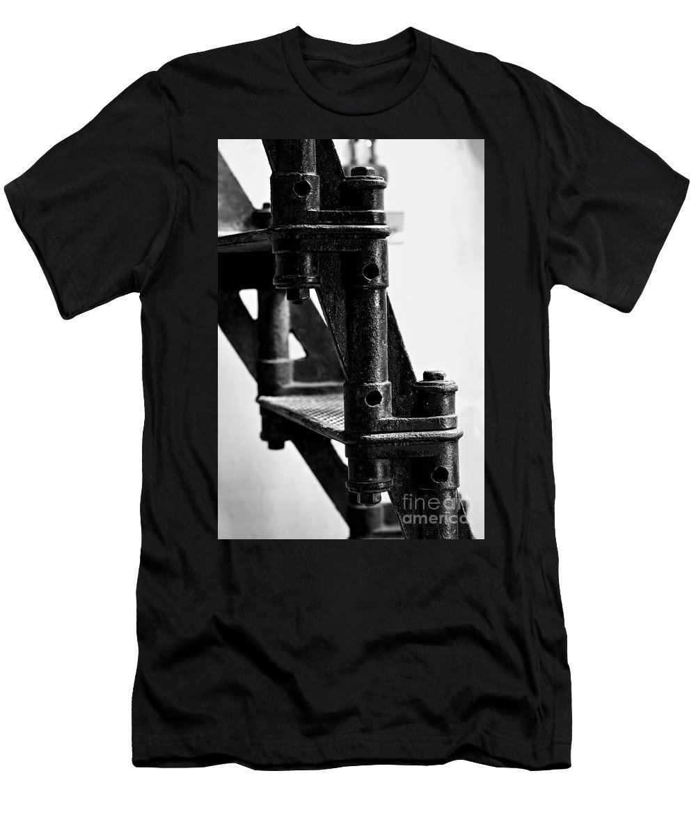 Lighthouse Men's T-Shirt (Athletic Fit) featuring the photograph Lighthouse Stairs by David Rucker