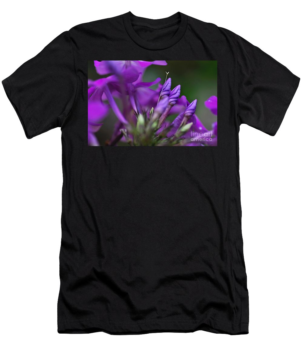 Photography Men's T-Shirt (Athletic Fit) featuring the photograph Lilac Petals And Purple Buds by Kaye Menner
