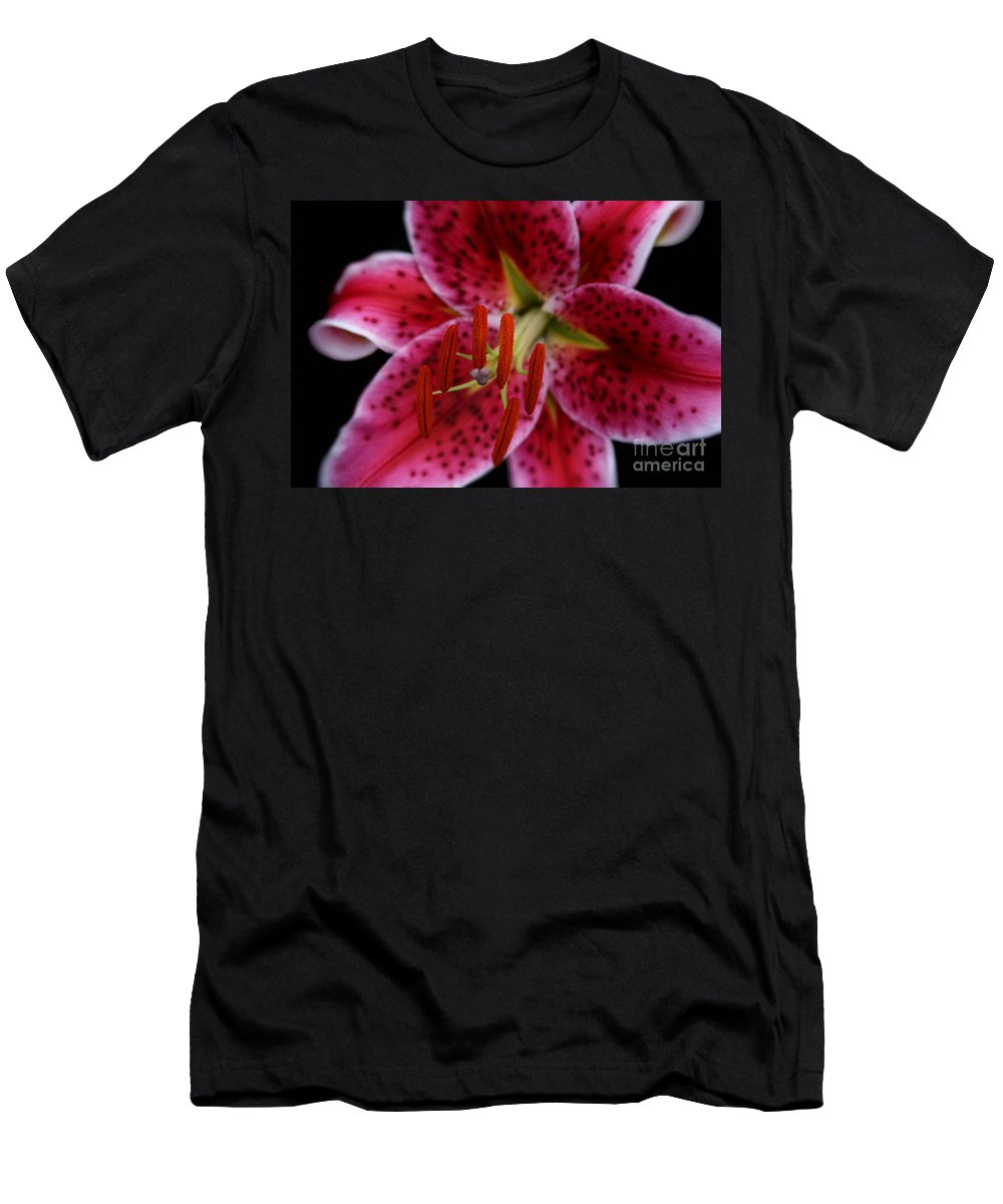 Aloha Men's T-Shirt (Athletic Fit) featuring the photograph Lilium Pink Stargazer by Sharon Mau