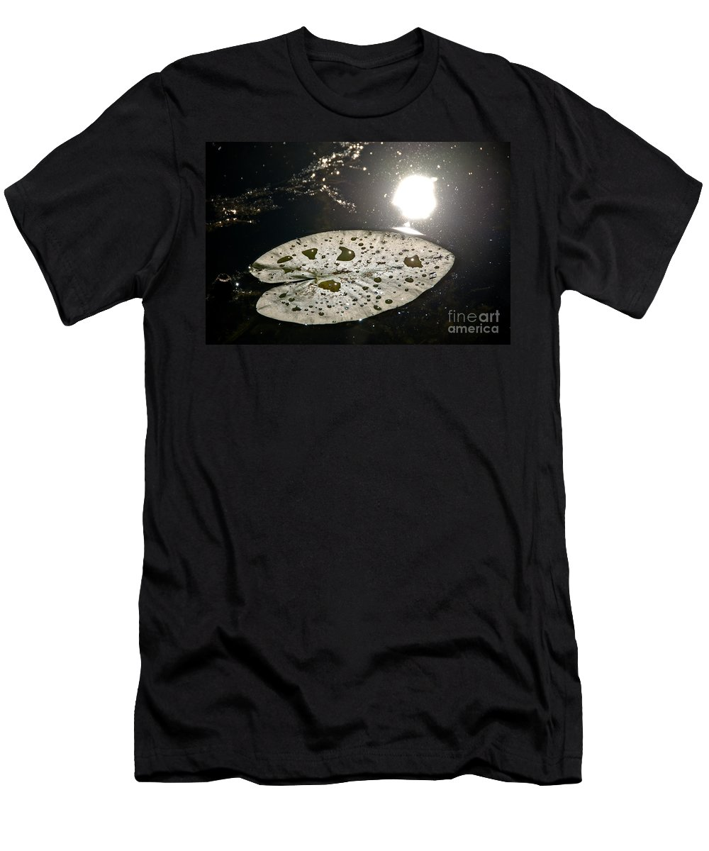 Lily Pads Men's T-Shirt (Athletic Fit) featuring the photograph Lily Pad In The Sun by Cheryl Baxter
