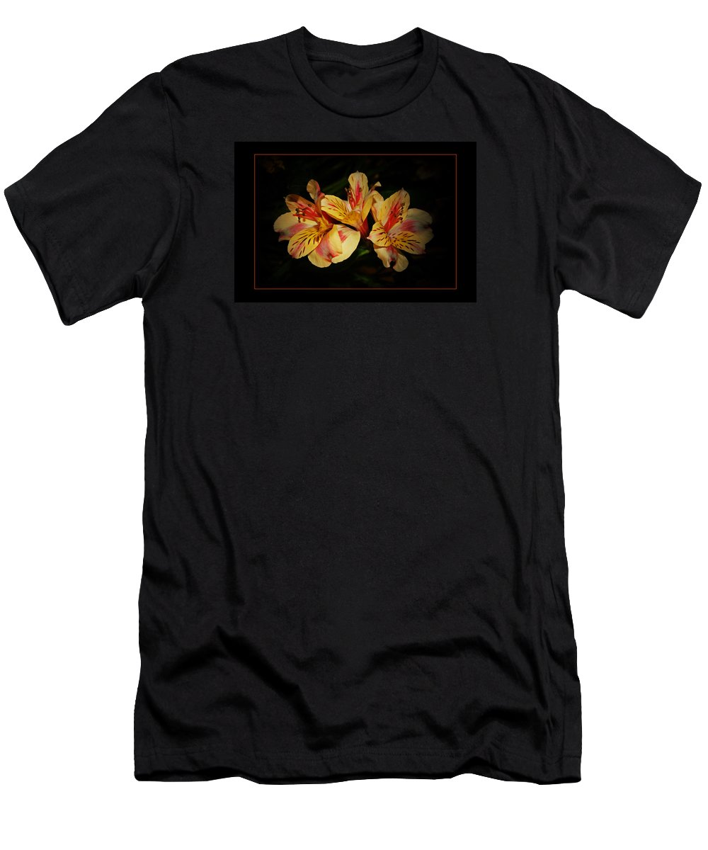 Lily Men's T-Shirt (Athletic Fit) featuring the photograph Lily Trio by Susan McMenamin