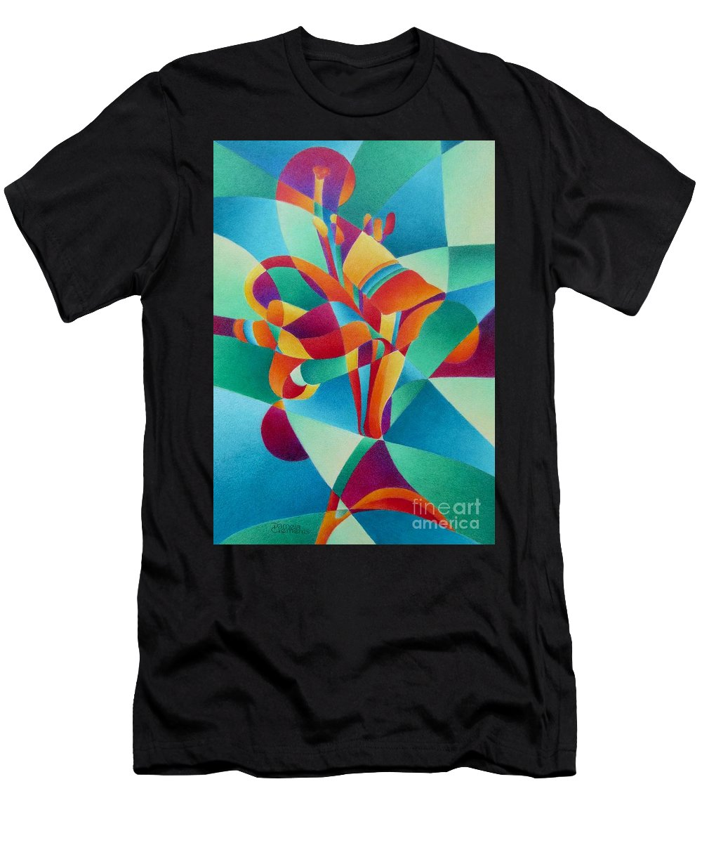 Lily Men's T-Shirt (Athletic Fit) featuring the painting Essentially Lily by Pamela Clements