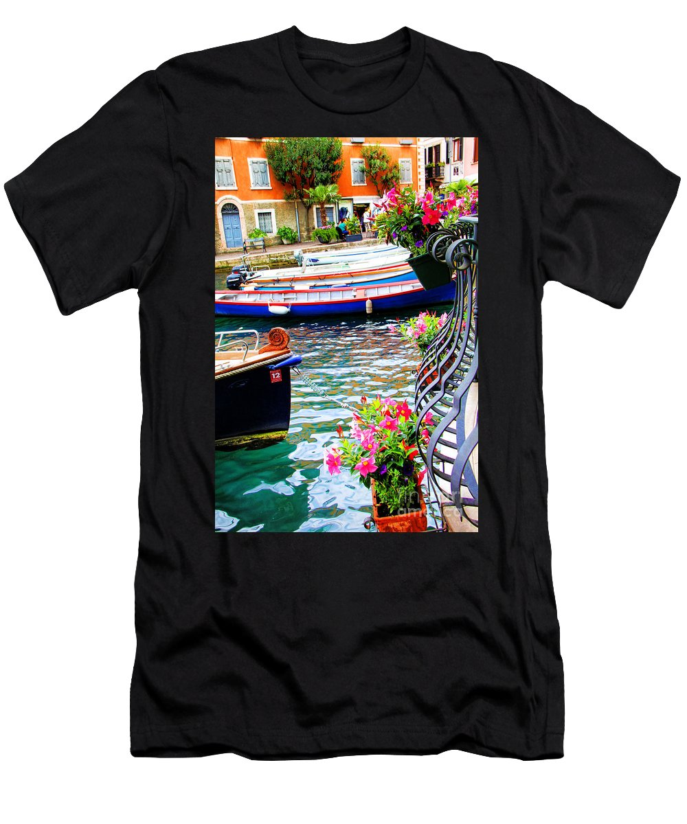 Limone Getaway Men's T-Shirt (Athletic Fit) featuring the photograph Limone Getaway by Mariola Bitner