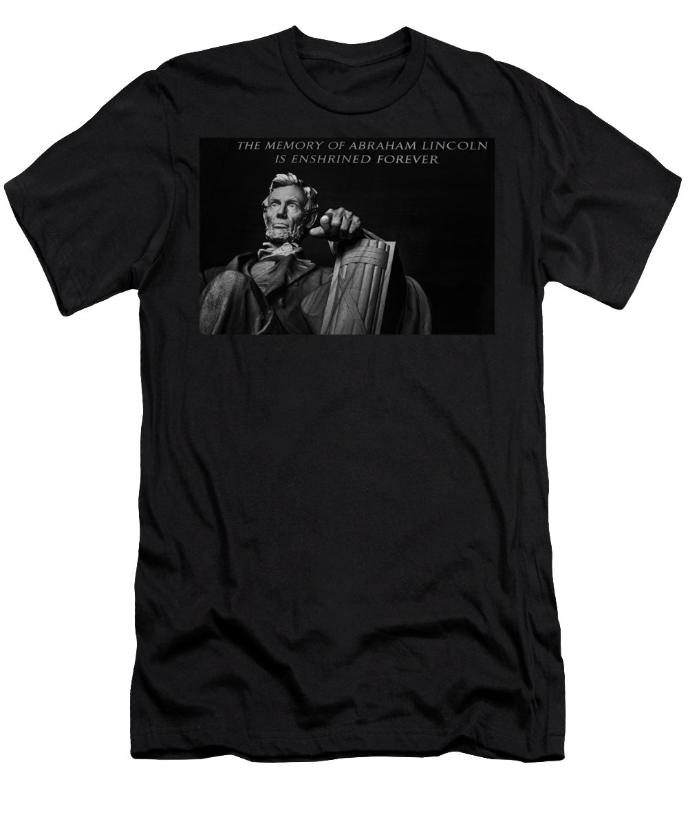 America Men's T-Shirt (Athletic Fit) featuring the photograph Lincoln The Legacy Of A President by Eduard Moldoveanu