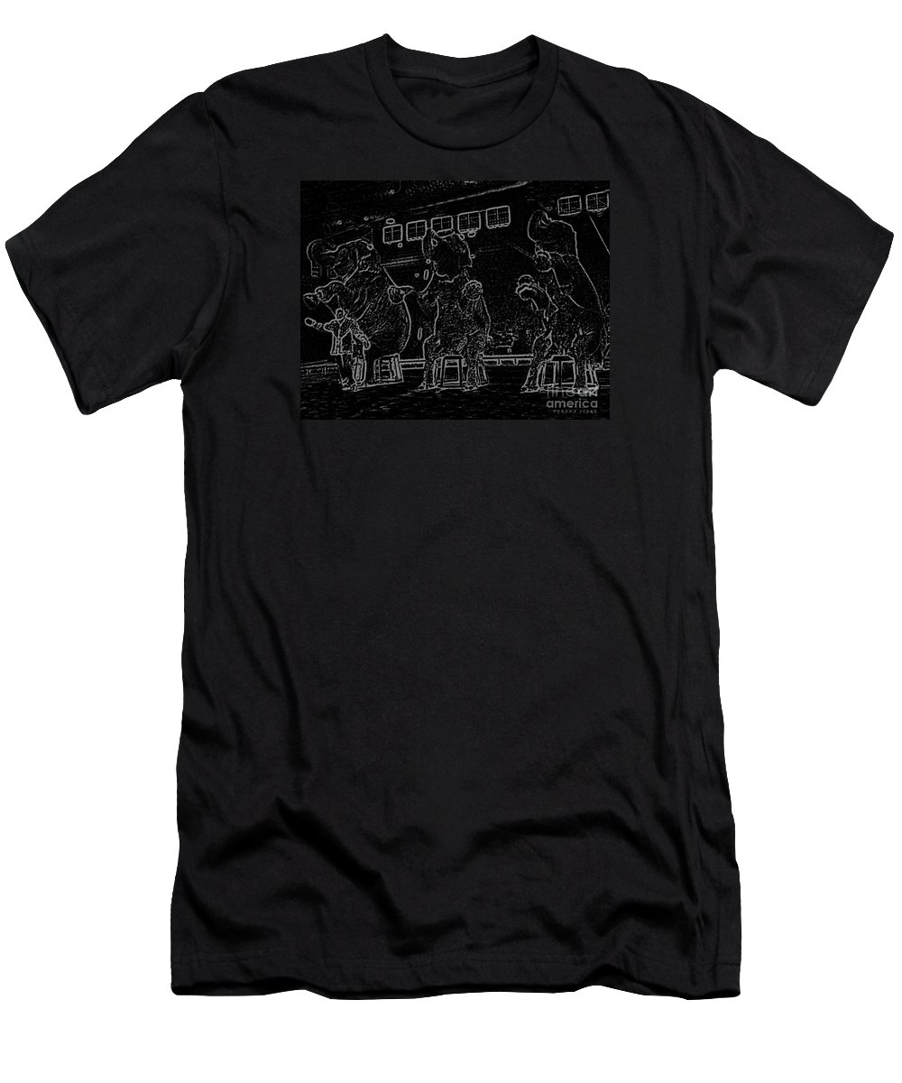 Elephants Men's T-Shirt (Athletic Fit) featuring the photograph Line From The Series The Elements And Principles Of Art by Verana Stark