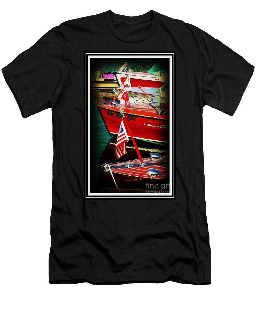 Line Up Men's T-Shirt (Athletic Fit) featuring the photograph Line Up by Susan Garren