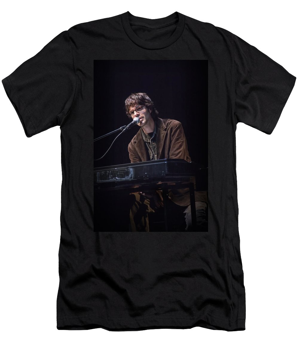 Art Men's T-Shirt (Athletic Fit) featuring the photograph Linford Detweiler Of Over The Rhine by Randall Nyhof