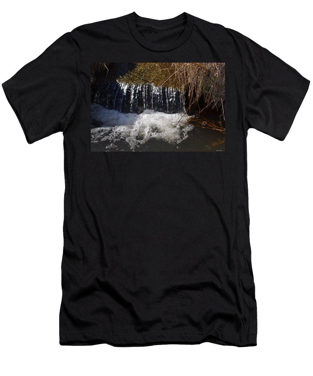 Liquid Bubbles Men's T-Shirt (Athletic Fit) featuring the photograph Liquid Bubbles by Maria Urso