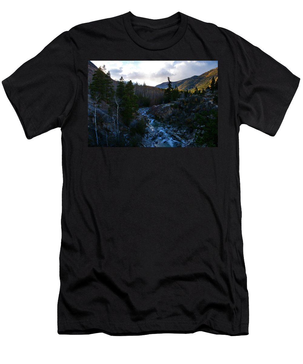 Colorado Men's T-Shirt (Athletic Fit) featuring the photograph Liquid Silver by Jeremy Rhoades